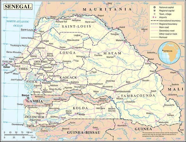 Les Régions du Sénégal
