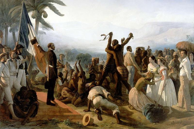 Auguste François Biard (1798-1882) L'abolition de l'esclavage dans les colonies françaises en 1848, huile sur toile (Salon 1849) Versailles, musée national du château et de Trianon