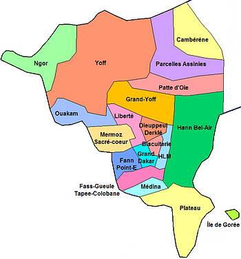 Les communes de Dakar