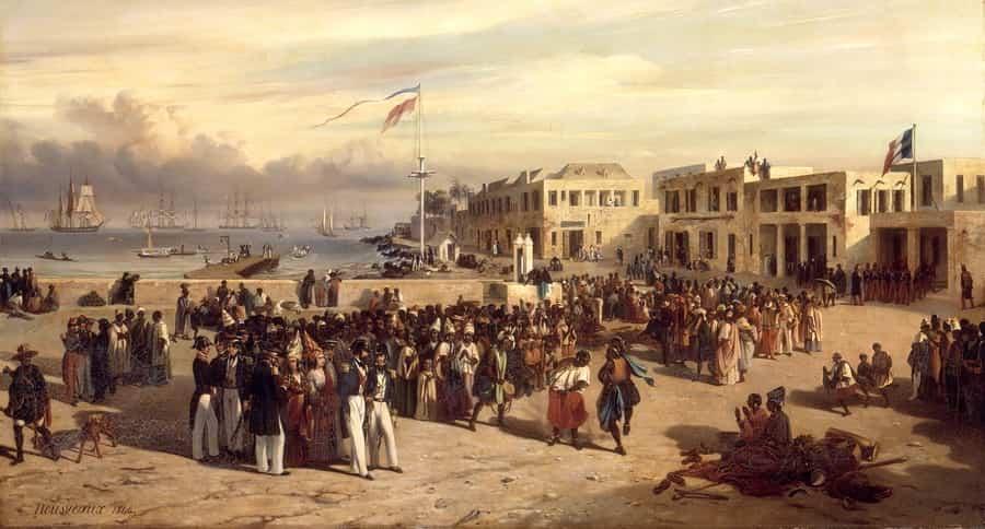 Histoire de l'île de Gorée, au large de Dakar, Sénégal