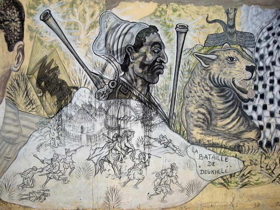 Lat Dior, fresque de Papisto Boy à Bel-Air