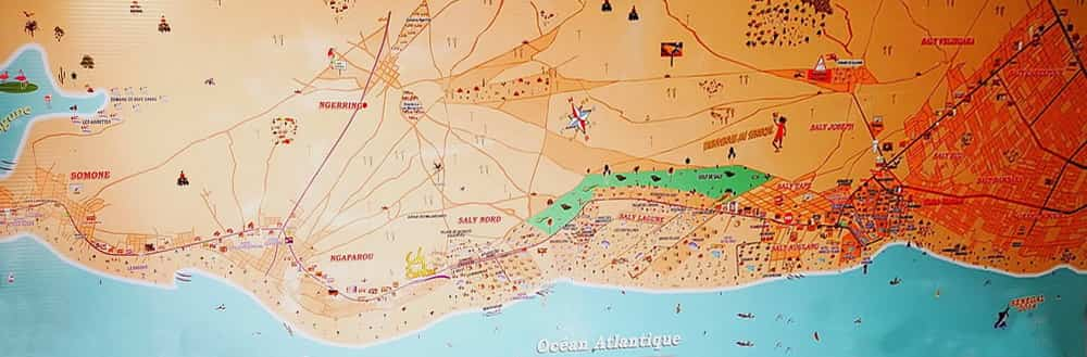 Plan de la station balnéaire de Saly Portudal