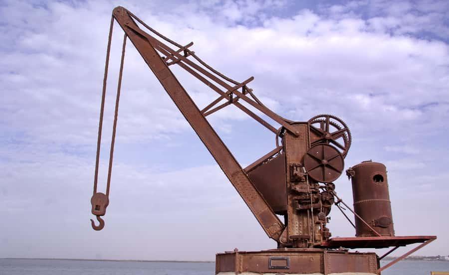 La grue à vapeur de 20 tonnes