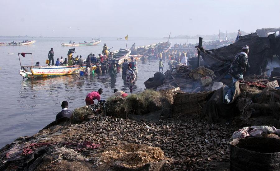 Guet Ndar, quartier des pêcheurs à Saint-Louis du Sénégal