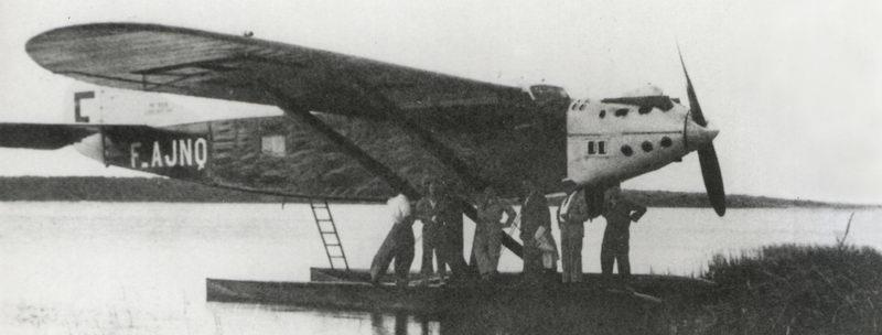 """"""" Le Comte de la Vaulx """" : 8 juin 1930, Jean Mermoz s'apprête à décoller du Brésil à destination de l'Afrique"""