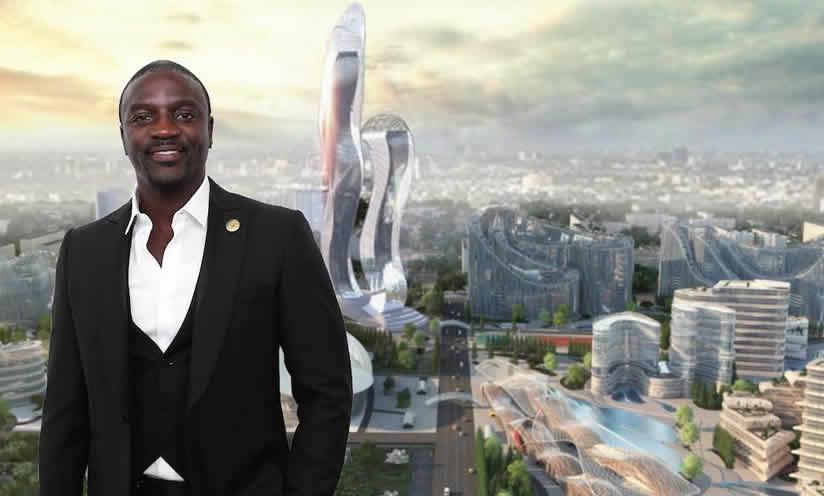 Le chantier d'Akon City est au point mort